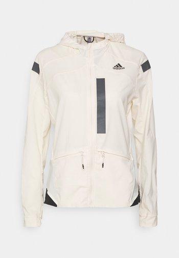 MARATHON RUNNING ADIZERO PRIMEBLUE JACKET - Sports jacket - white/black