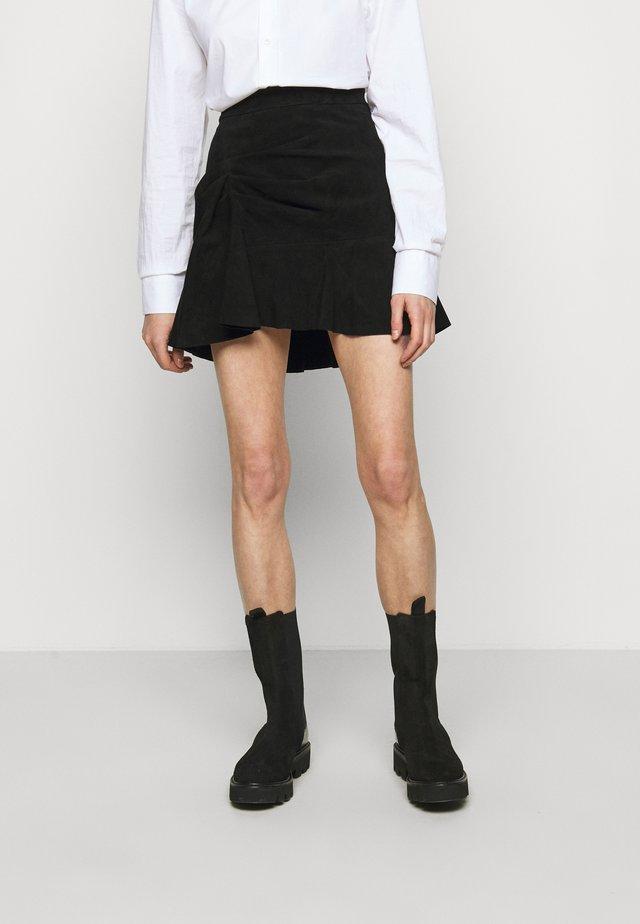 MARANA - Áčková sukně - black