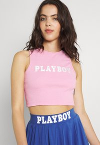 Missguided - PLAYBOY SPORTS RACER CROP - Top - pink - 3