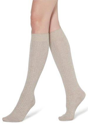 Knee high socks - sabbia mel.