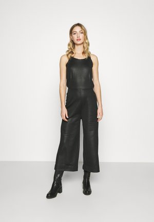 GLOSSY - Jumpsuit - dark black
