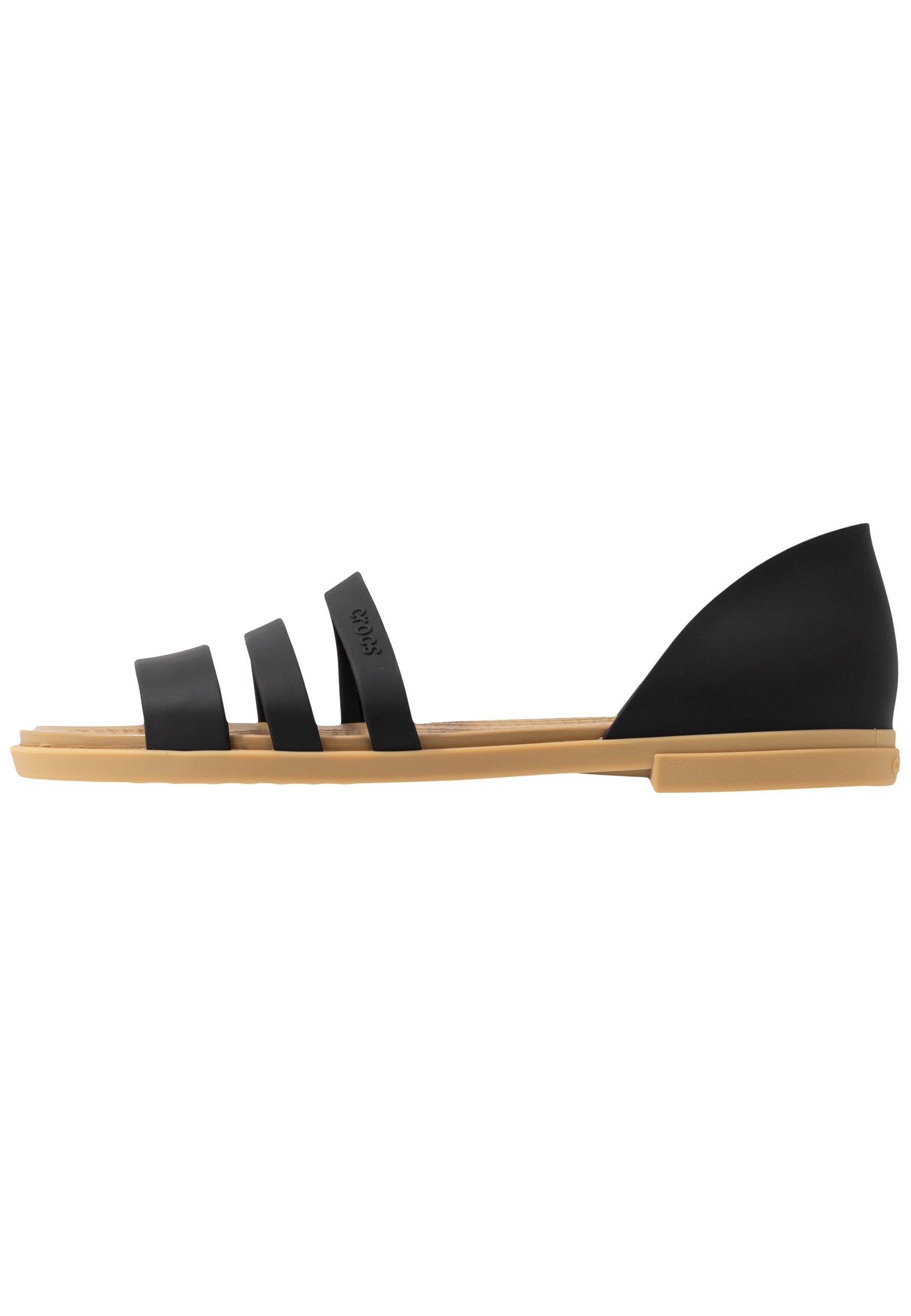 Crocs Tulum Open - Tøfler Black/tan/svart