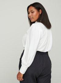 Zizzi - MIT BINDEDETAIL - Button-down blouse - off-white - 2