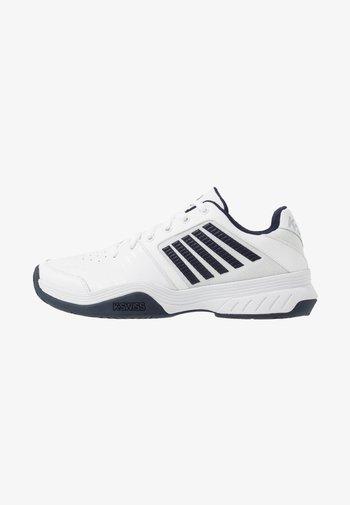 COURT EXPRESS - Tenisové boty na antuku - white/navy