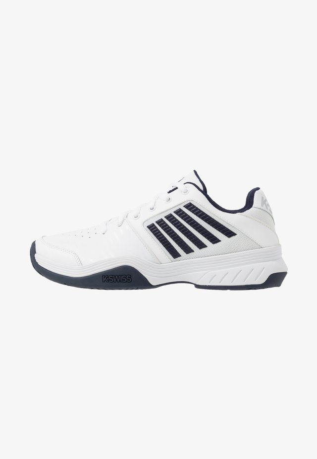 COURT EXPRESS - Clay court tennis shoes - white/navy