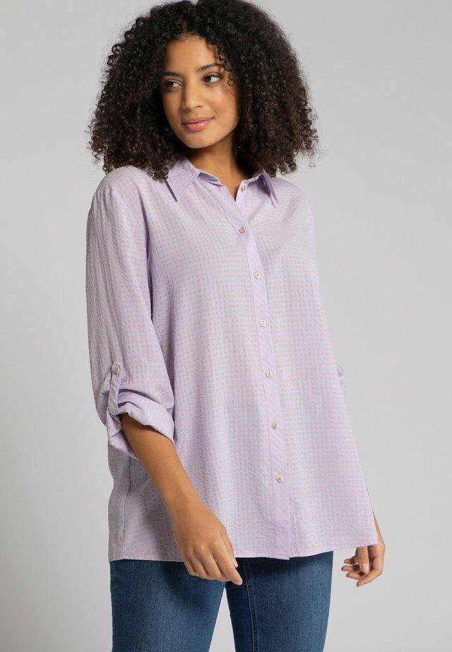 Overhemdblouse - lavendel