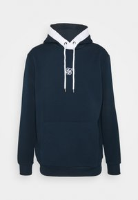 SIKSILK - SIKSILK TEXTURED TAPE OVERHEAD HOODIE - Felpa - navy - 3