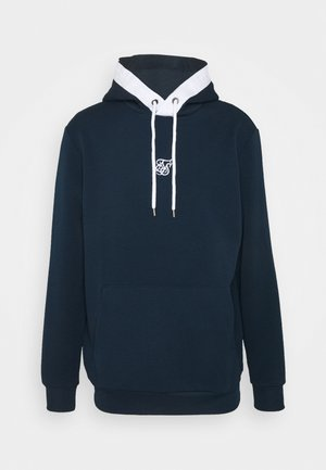 SIKSILK TEXTURED TAPE OVERHEAD HOODIE - Sweatshirt - navy