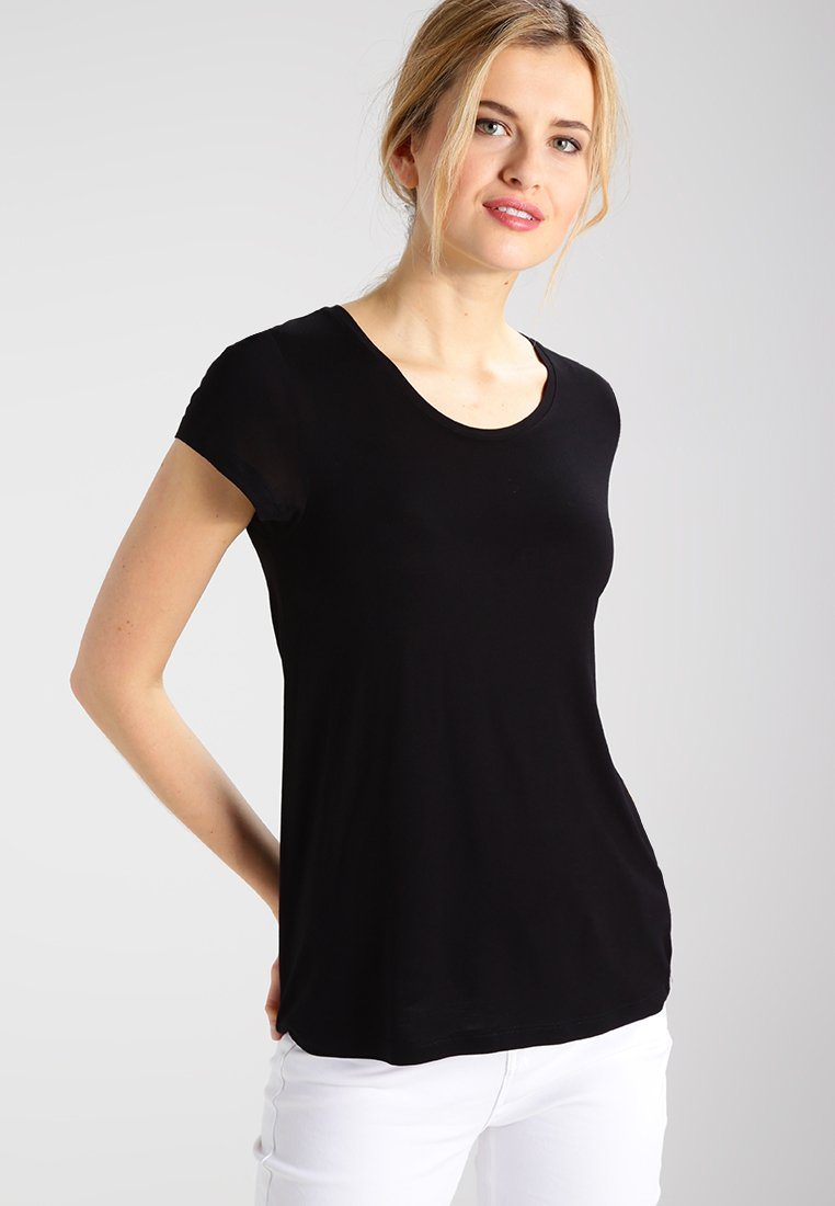 Kaffe - ANNA - Basic T-shirt - black deep