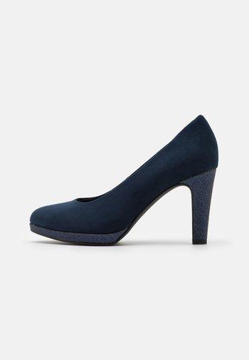 COURT SHOE - High heels - navy