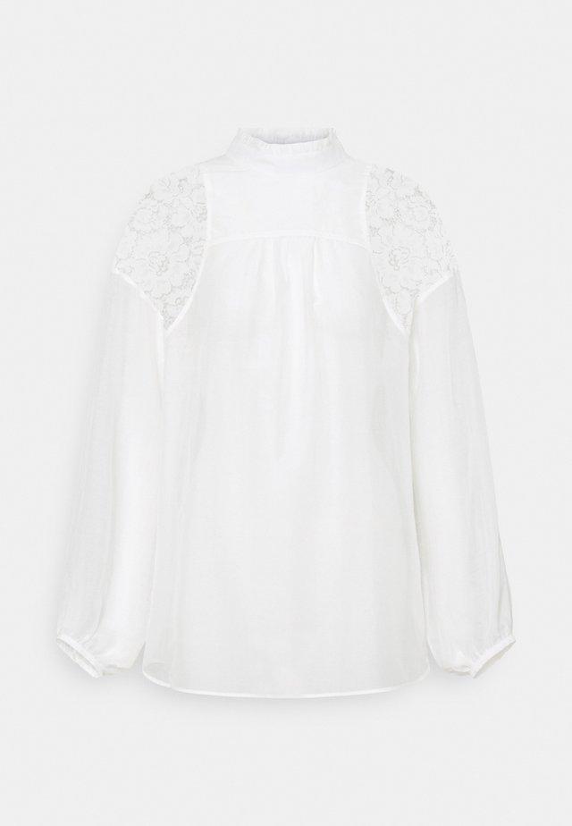 EMBOIRDERED - Blouse - white