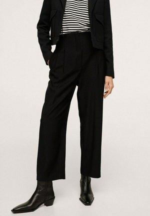 CROP PINZAS - Kalhoty - black