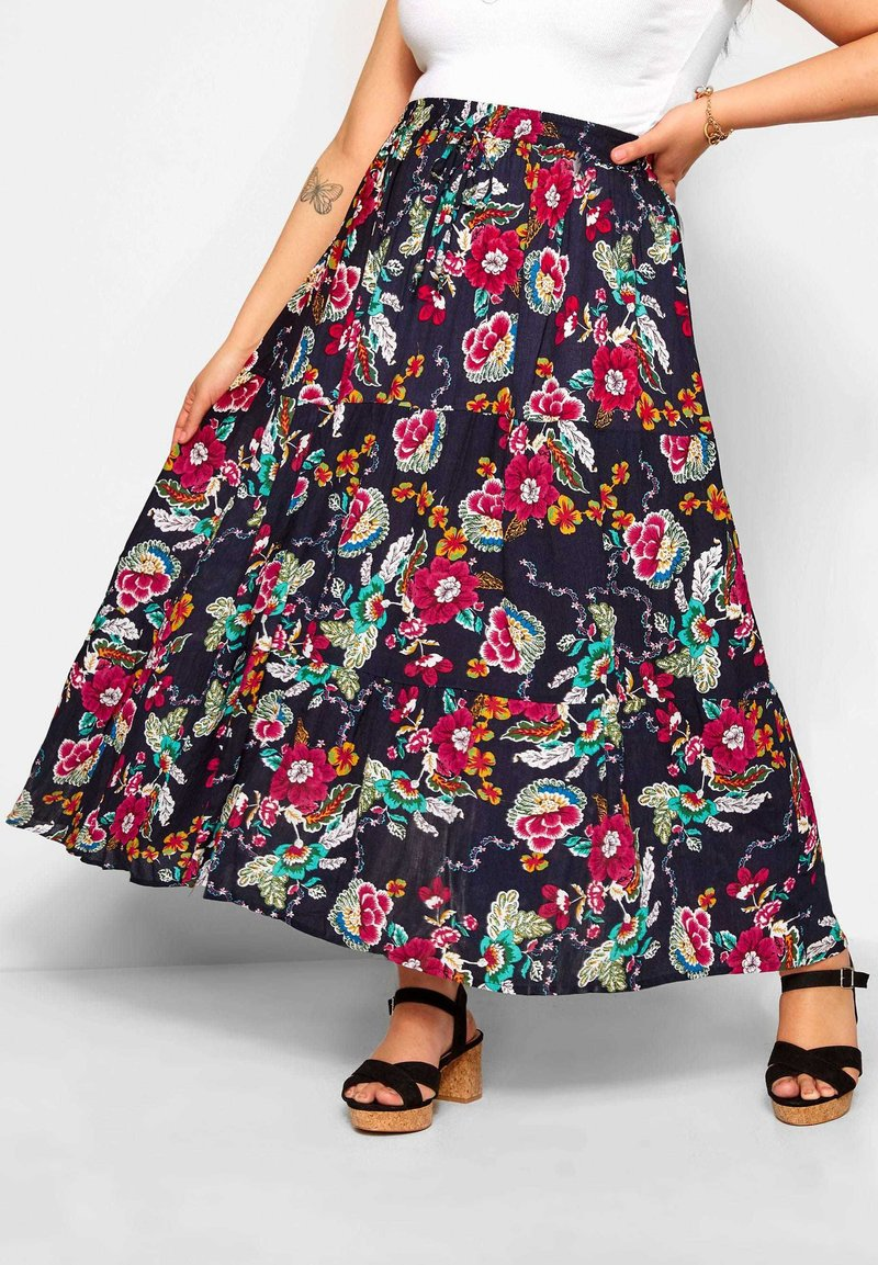 Yours Clothing - Maxi skirt - blue