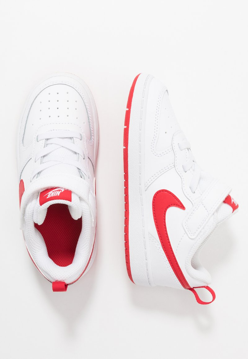 Nike Sportswear - COURT BOROUGH 2 - Sneakersy niskie - white/university red