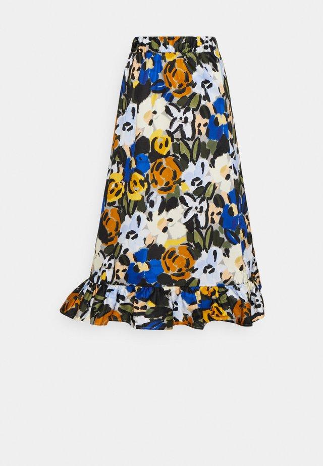 SLFRONNA MIDI SKIRT  - A-line skirt - sudan brown