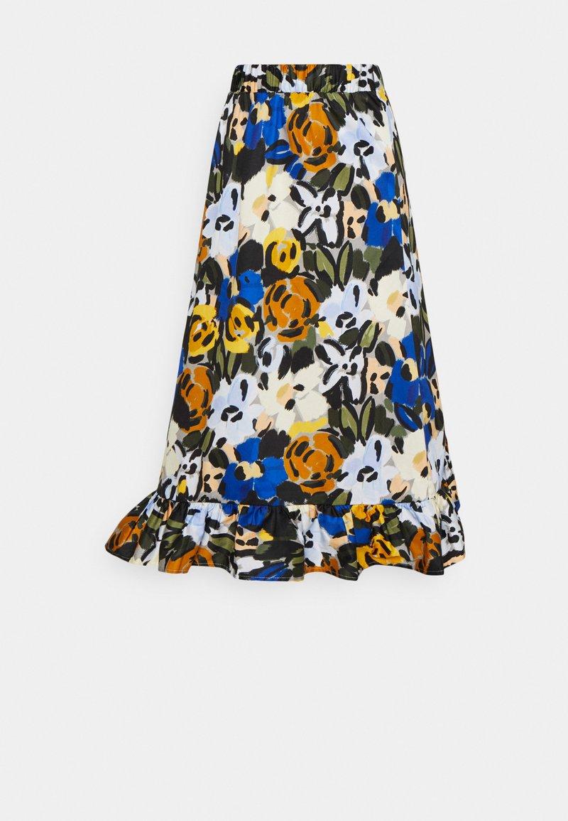 Selected Femme - SLFRONNA MIDI SKIRT  - A-line skirt - sudan brown