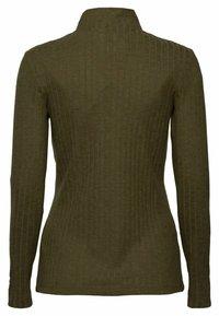 Esprit - HIGHNECK - Long sleeved top - dark khaki - 8
