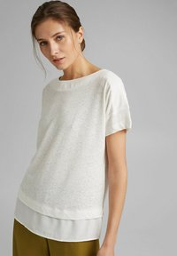 Esprit - Basic T-shirt - off white - 5
