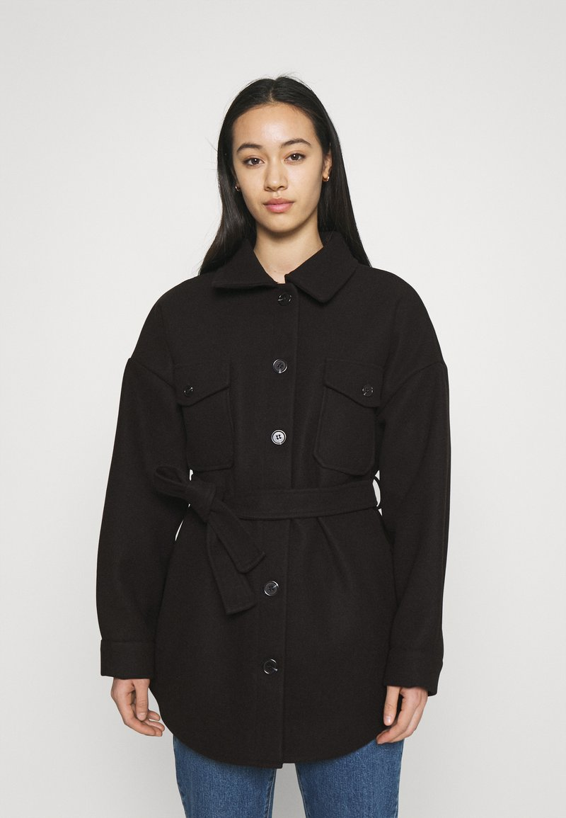 Nly by Nelly - MY DEAREST SHACKET - Short coat - black