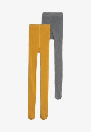 2 PACK - Tights - mustard yellow/grey