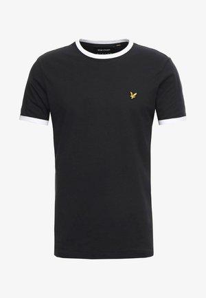 RINGER TEE - T-shirt basic - true black/white