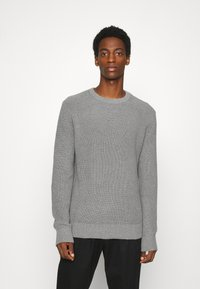 GAP - SHAKER CREW - Stickad tröja - heather grey - 0