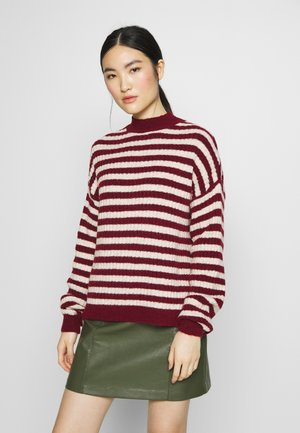 Jumper -  sand/ bordeaux