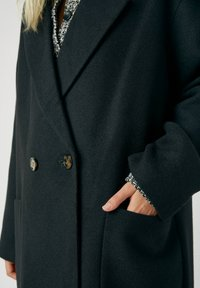 PULL&BEAR - Classic coat - mottled black - 4