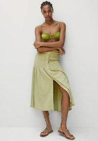 Mango - A-line skirt - vert - 1
