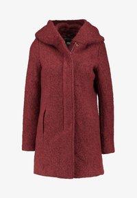 ONLY Petite - ONLSEDONA COAT - Short coat - merlot/melange - 4