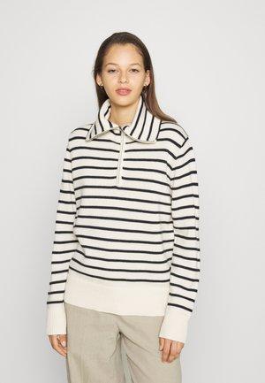 CLEMENTINE CLASSIC JUMPER - Stickad tröja - navy/off-white