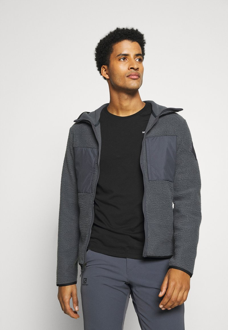 Salomon - SNOWSHELTER TED HOODIE - Fleece jacket - ebony