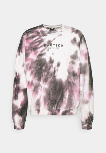 CREW TIE DYE - Sweatshirt - black/white