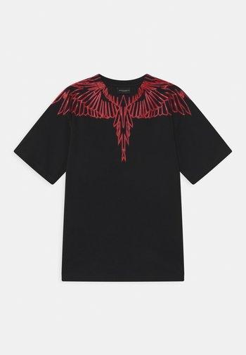 WINGS RED - Print T-shirt - nero