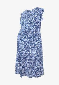 DITSY FLUTED SLEEVE DRESS - Denní šaty - blue