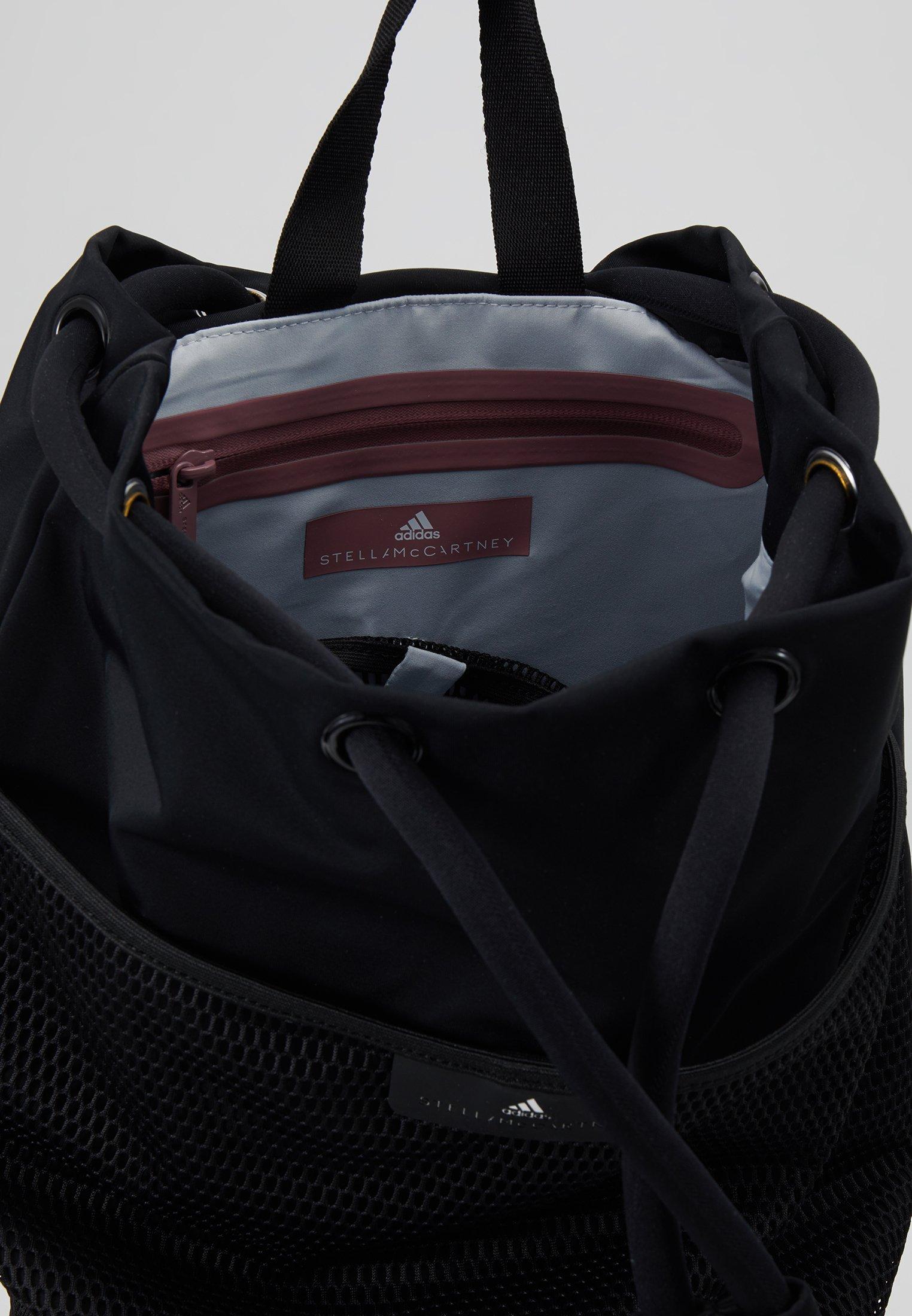 Mejor vendido adidas by Stella McCartney BOXING GYMSACK - Bolsa de deporte - black/black/white   Complementos para mujer 2020 FPgtd
