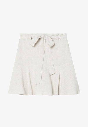 RUSTIKALER - Mini skirt - stone