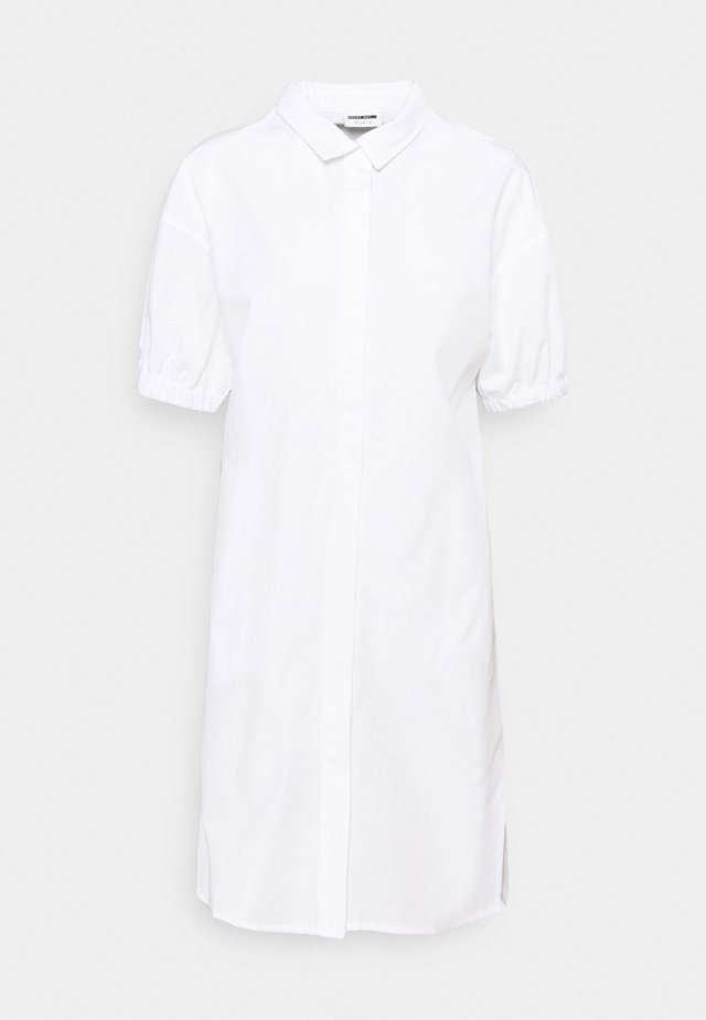 NMPINAR POPLIN DRESS - Blousejurk - bright white