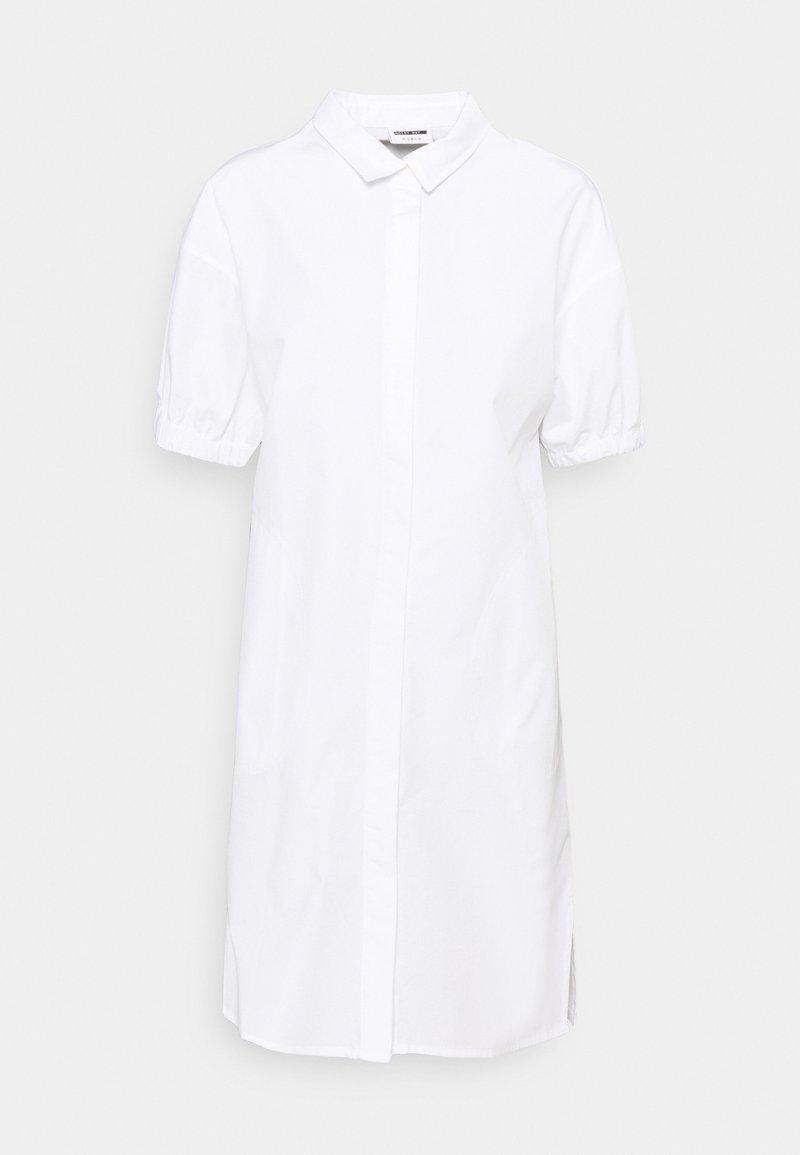 Noisy May - NMPINAR POPLIN DRESS - Shirt dress - bright white