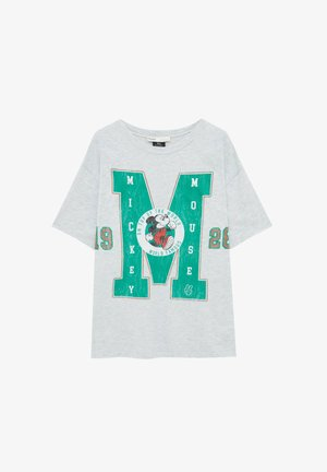 MICKEY MOUSE  - Print T-shirt - mottled grey