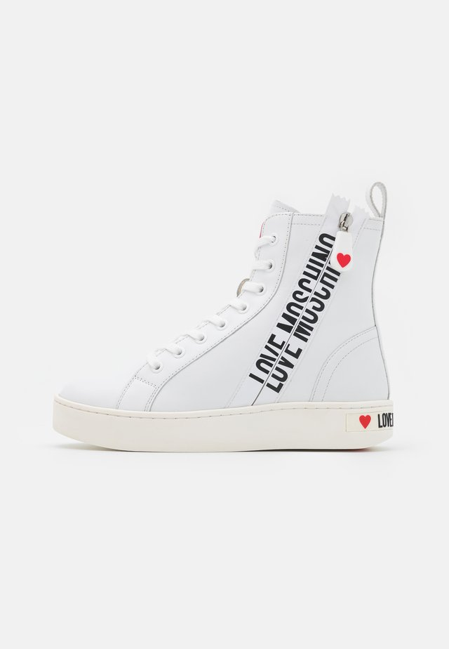 Sneakers hoog - bianco