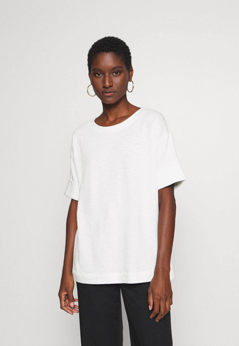 Esprit - BOXY TEE - Basic T-shirt - off white