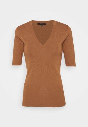 JOLIENE V NECK  - Basic T-shirt - brown