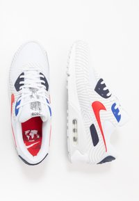 Nike Sportswear - NIKE AIR MAX 90 - Sneakers laag - white/university red/midnight navy/blue/pure platinum/metallic silver - 1