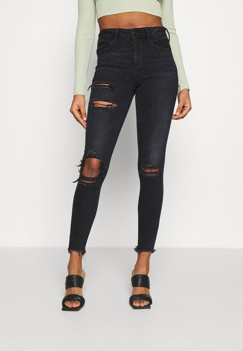 American Eagle - Slim fit jeans - black