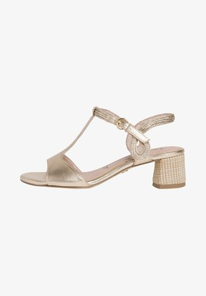TAMARIS SANDALETTE - Sandals - gold