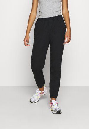 Regular fit joggers without drawstring - Pantalones deportivos - black