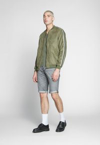 G-Star - 3301 SHORT - Denim shorts - sato black denim/sun faded black stone - 1