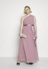 Dorothy Perkins Curve - SADIE SHOULDER DRESS - Společenské šaty - dark rose - 1