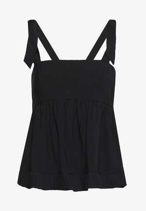 PLEATED DETAIL BOW TIE CAMI - Blouse - black